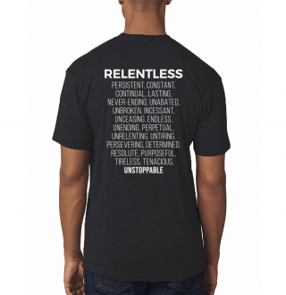 Relentless Definition T-Shirt Back