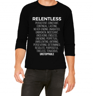 Relentless Definition Baseball Tee Front