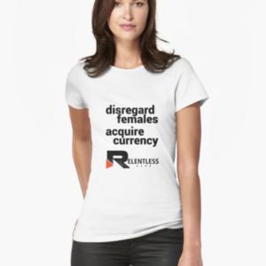 Disregard Females Women's T-shirt Front Closeup