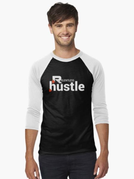 Relentless Hustle Baseball Tee Front