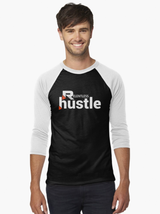 Relentless Hustle Baseball Tee Front
